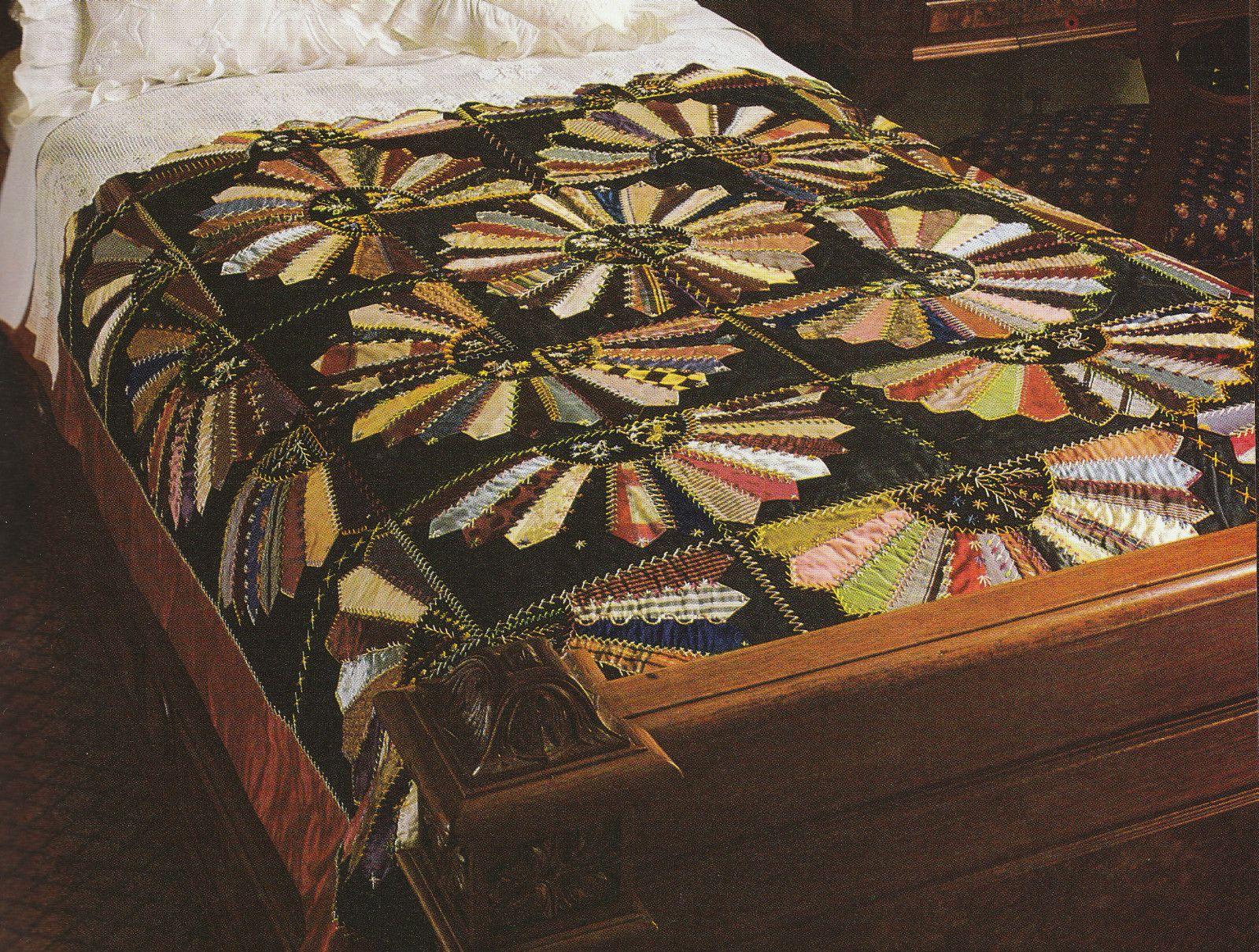 Traditional Antique Vintage Crazy Quilt Quilts Crazy