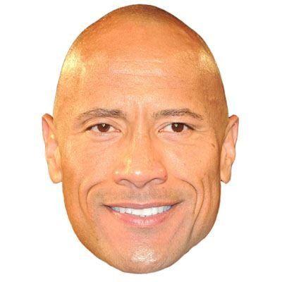 Dwayne The Rock Johnson Celebrity Mask Cardboard Face and Fancy Dress Mask ** You can find more details by visiting the image link.
