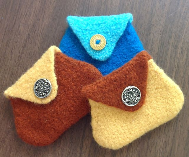 Ravelry Felted Coin Purse Pattern By Viola M Soffe Free Knitting