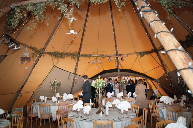 Natalie and Guy�s rustic DIY wedding � complete with tipis!