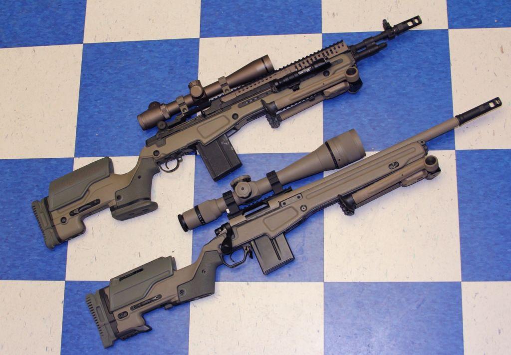 Springfield M1a Scout And Remington 700 W Jae Stocks Guns