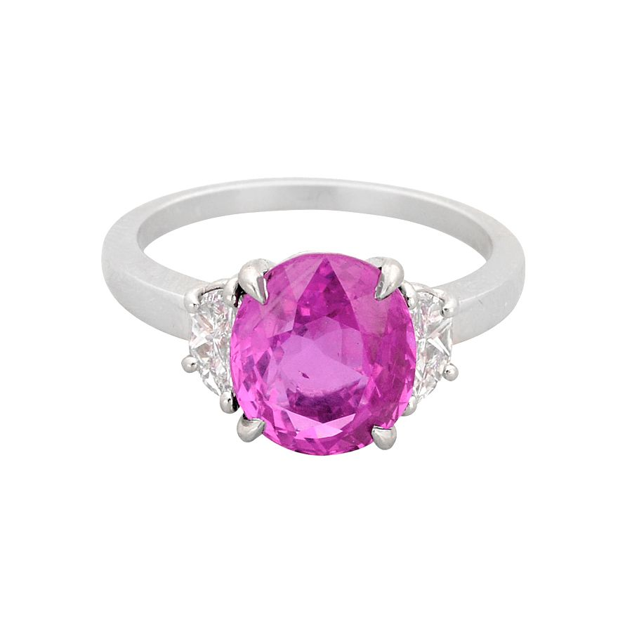 Betteridge Burmese Pink Sapphire & Diamond Ring. 4.06cts | pretty ...