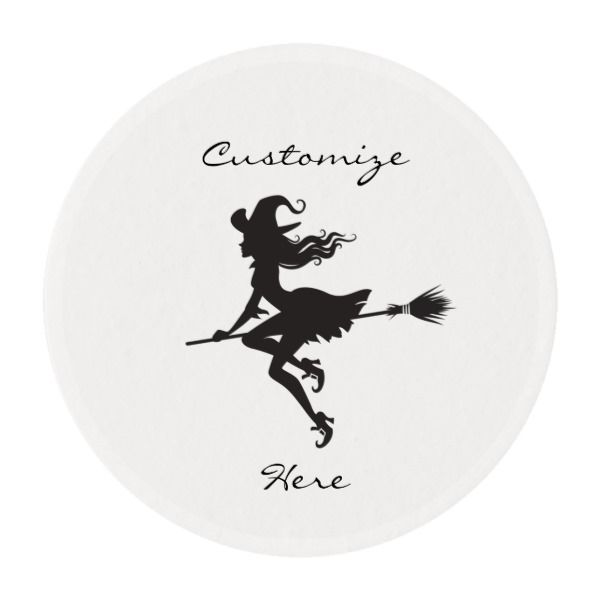 Witch Riding Broom Thundercove Halloween Edible Frosting Rounds
