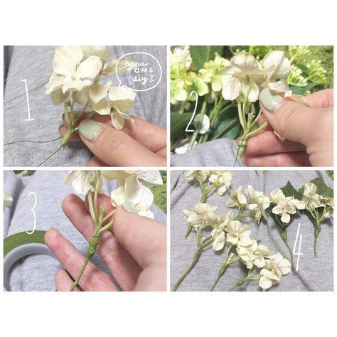100均の造花で出来る髪飾り*フラワーパーツの作り方