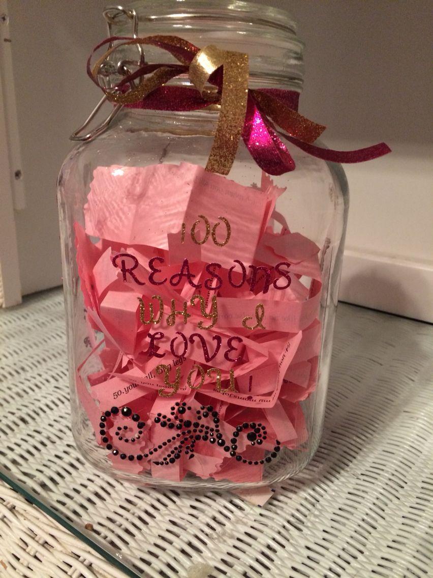 100 Reasons Why I Love You Jar Reasons Why I Love You 100 Reasons Why I Love You Birthday Gifts For Boyfriend Diy