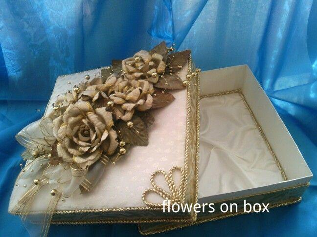 Flowers on box