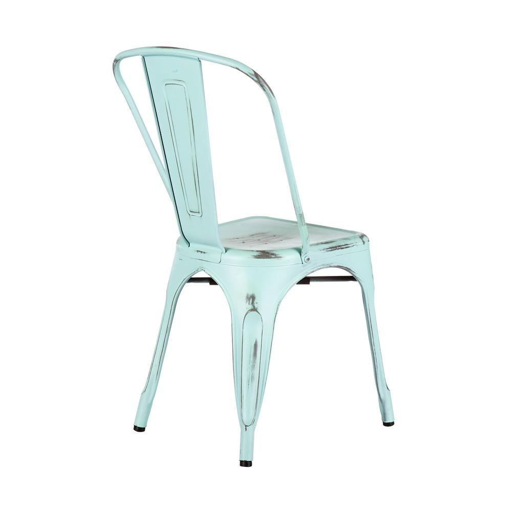 Galvanized Steel Chair   Set Of 2   Dot U0026 Bo