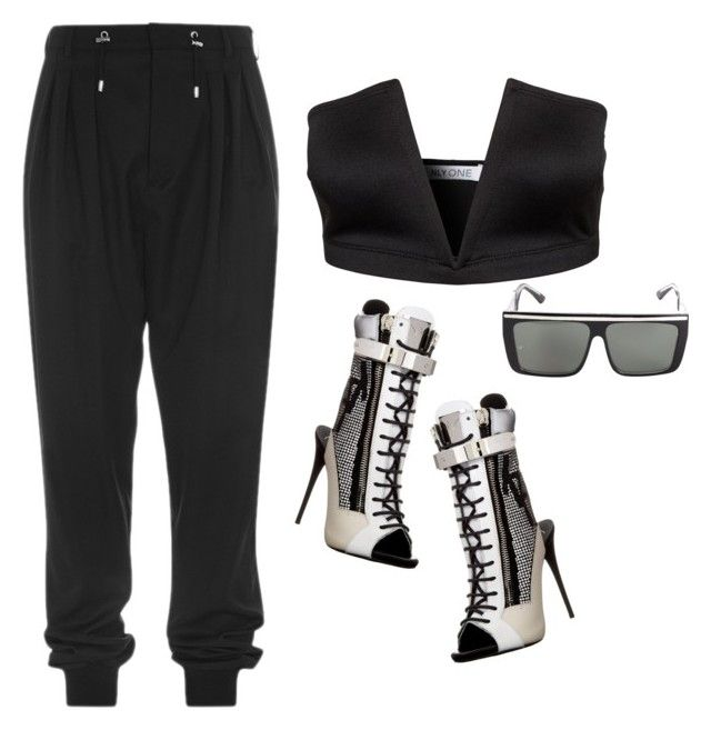 *** by rachel-hascall on Polyvore featuring polyvore fashion style Oneness Giuseppe Zanotti Balmain clothing balmain Zanotti balmainarmy