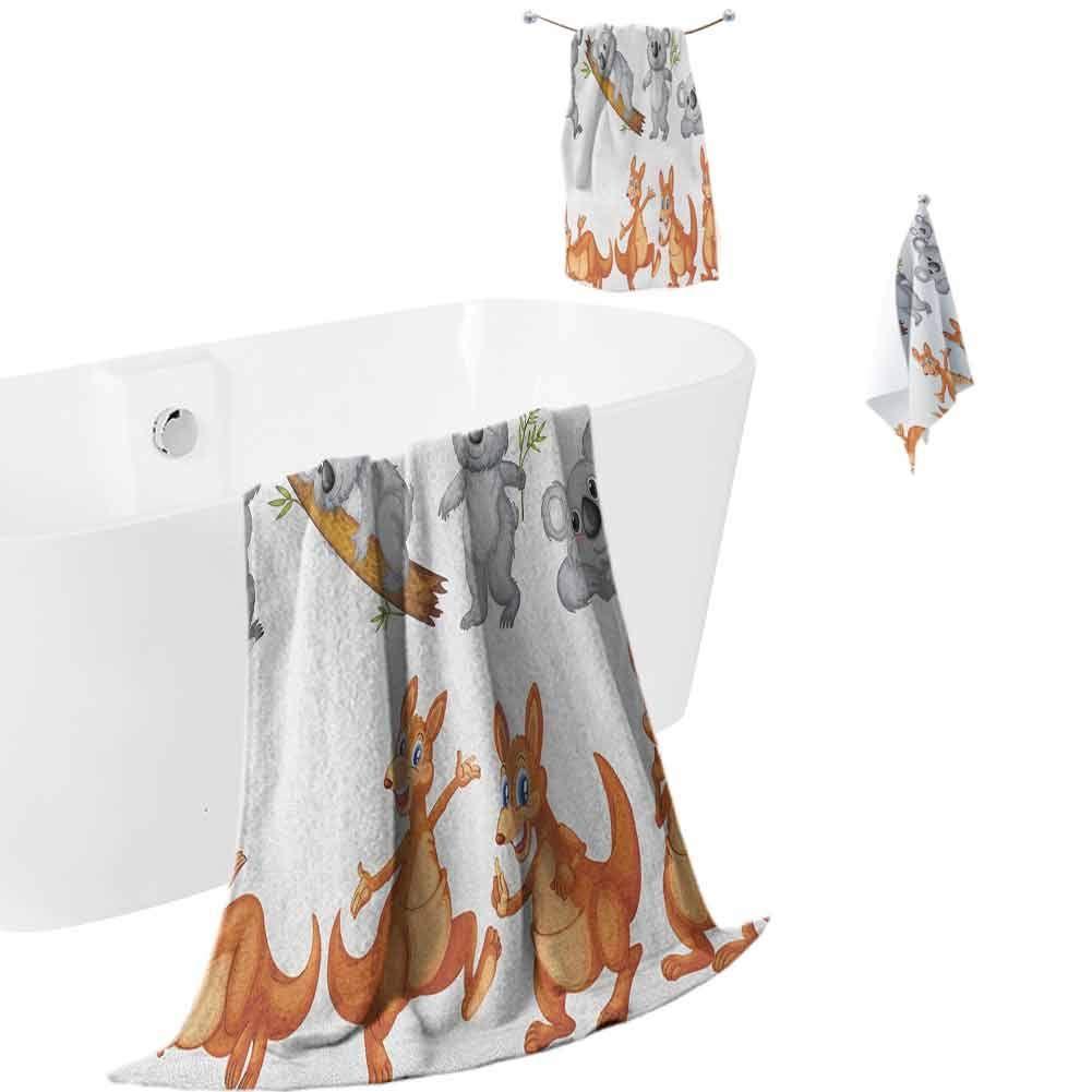 Antony Petty Tropical Animals Microfiber Bath Towel Sets Extra