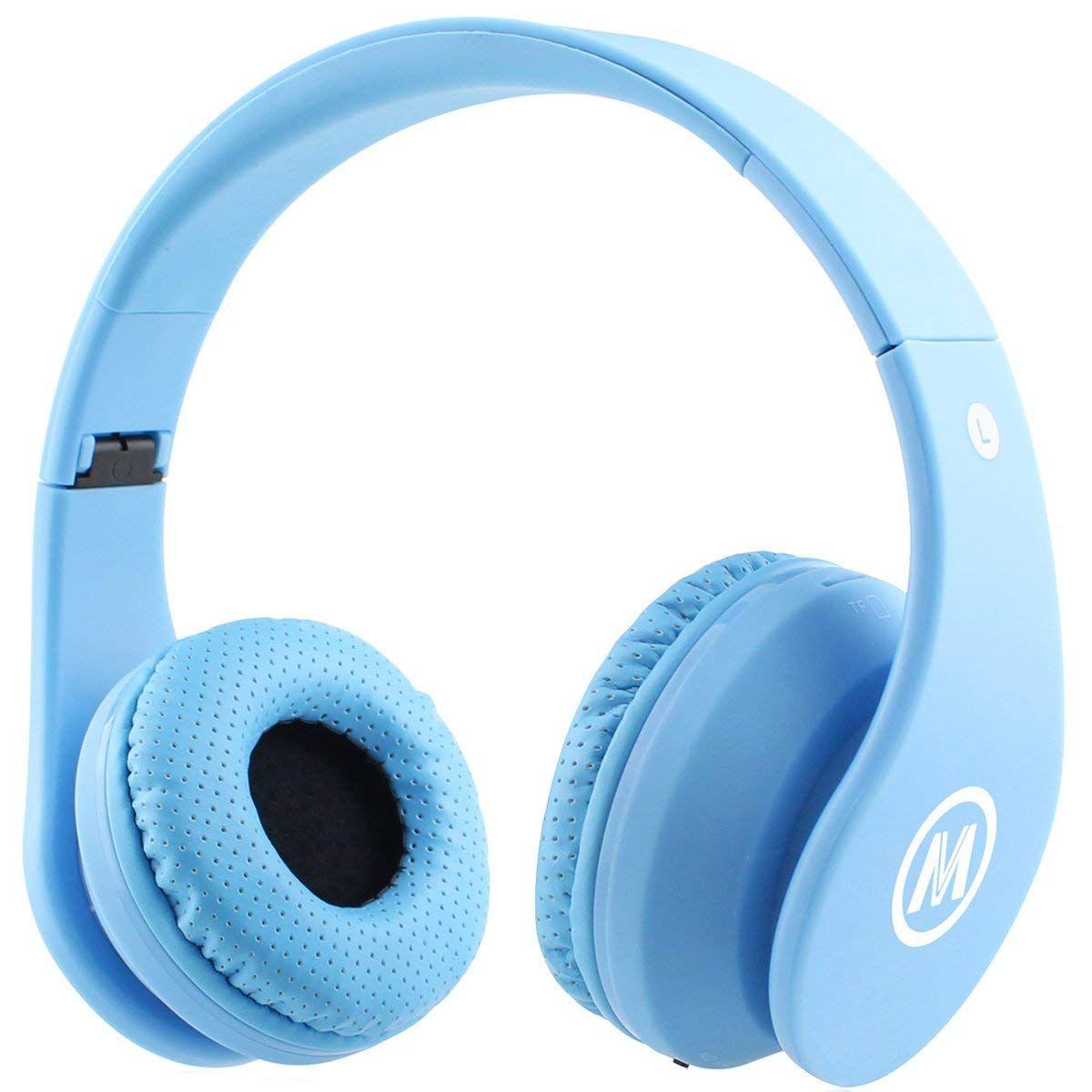 Amazon Com Mokata Kids Headphone Bluetooth Wireless Over Ear Foldable Rechargeable Stereo Sound Headset With Au Kids Headphones Bluetooth Headphones Headphone