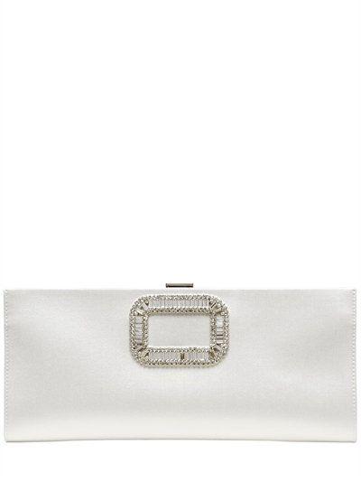 b4869082b7e3 Pilgrim Small Embellished Metallic Leather Clutch