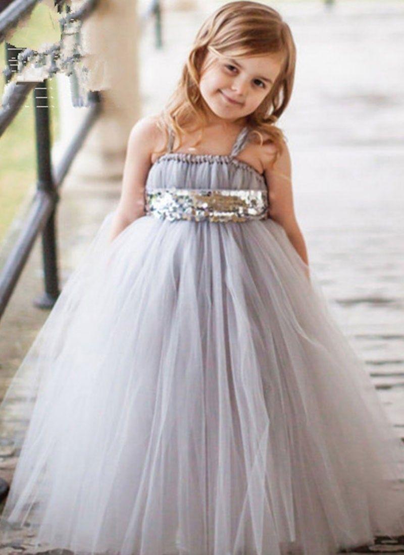 9d728e9d9fa1 Shop Online Grey Net  GirlsGown  Chennaistore.com Kids Wear Online