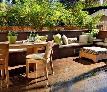Nice ... In Deck Seating For Fire Pit Area. Lighting More Subtle,  Smaller.Cushion Storage Under Benches Built In Please. Dreamy Decks And  Patio   Home And Garden ...