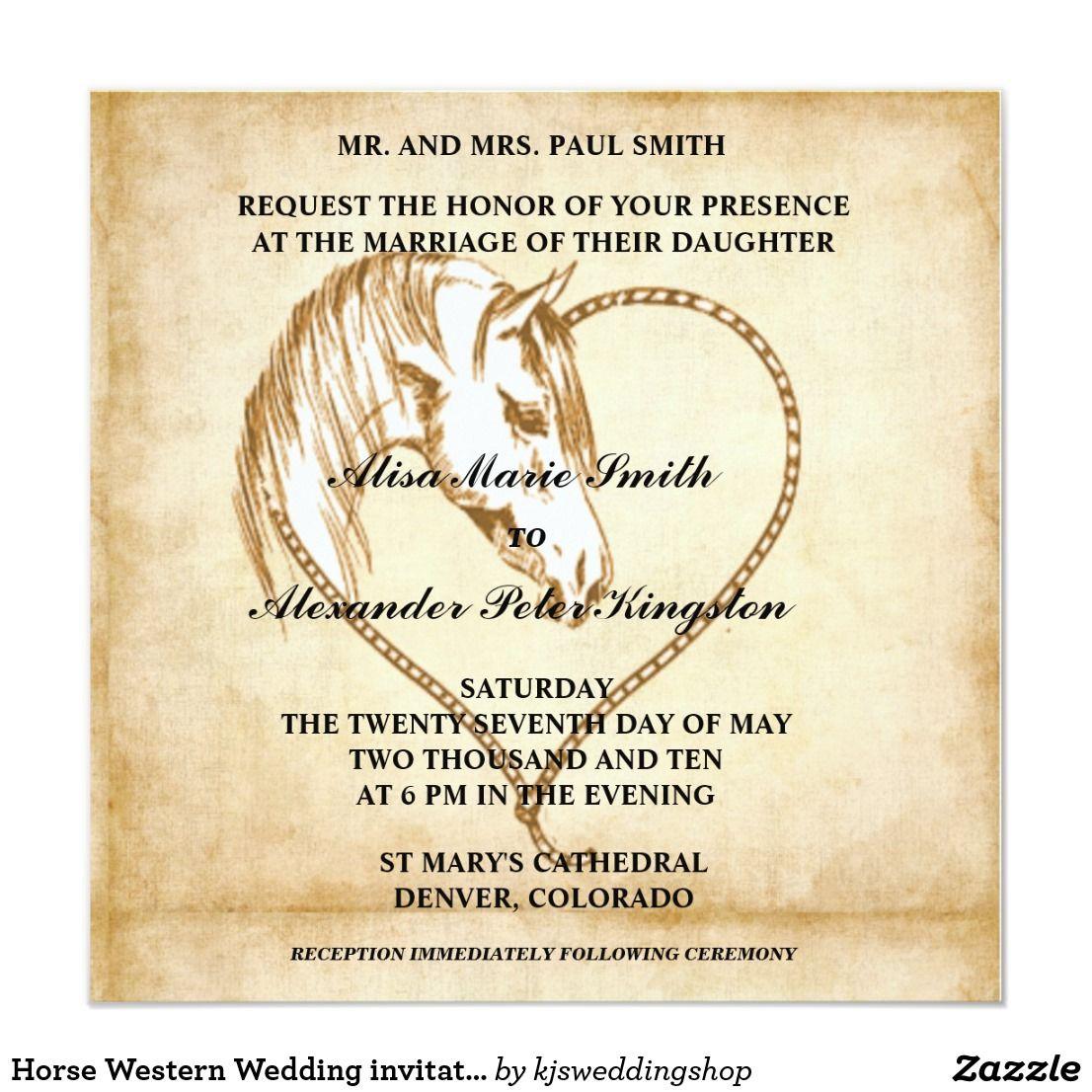 Horse Western Wedding Invitations