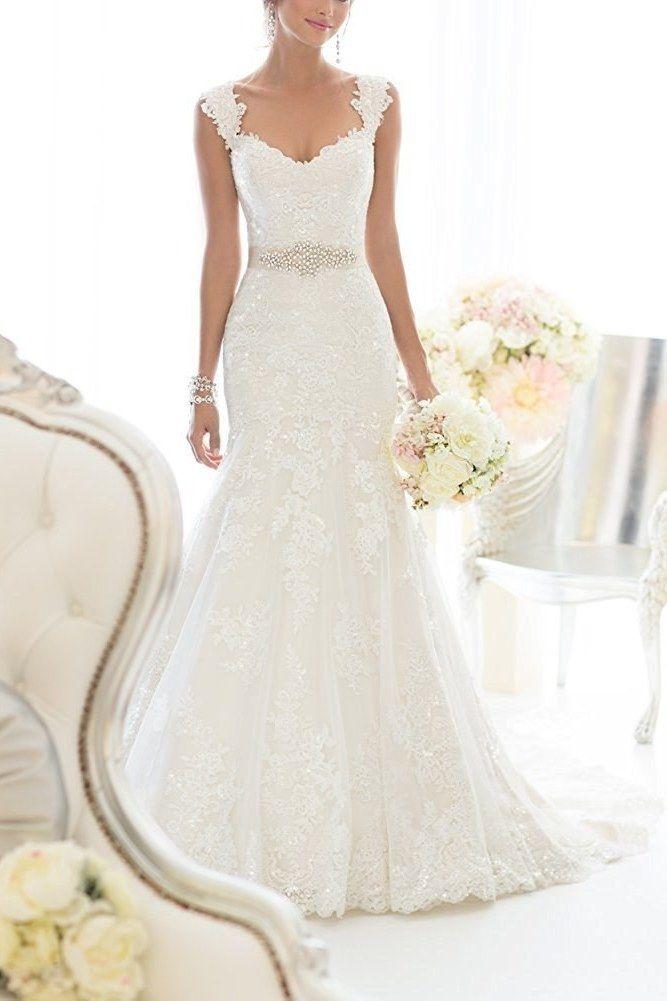 20 Gorgeous Wedding Dresses You Won T Believe You Can Get On Amazon Spring Wedding Dress Wedding Dresses Wedding Dresses Lace