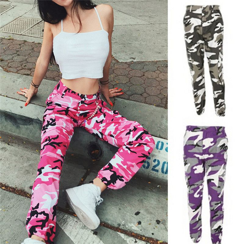 dd7891a5c55aa Cheap womens camouflage pants, Buy Quality dance pants directly from China  fashion pants Suppliers: Fashion Women Camouflage Pant High Waist Hiphop  Pink ...