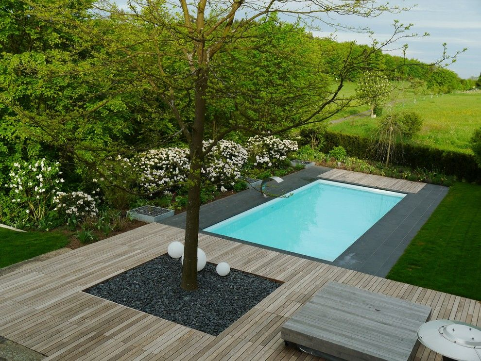 super cool-looking pool for the garden http\/\/room-decorating - moderne gartengestaltung mit pool