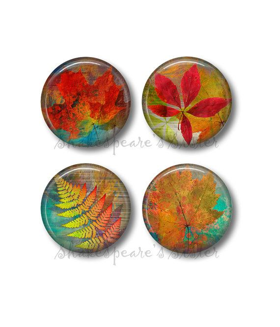 Fall Leaf Magnets  Fridge Magnets  Fall by ShakespearesSisters