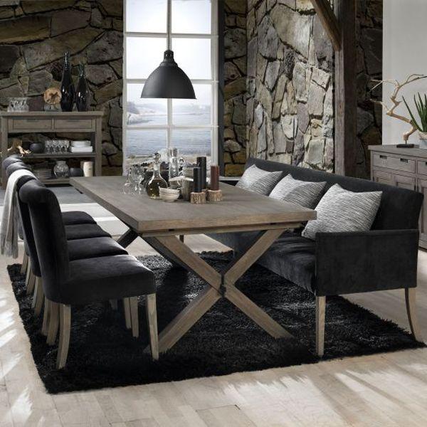 Fab Design Möbel sofabank polsterbank daniel 240 cm velours schwarz maison