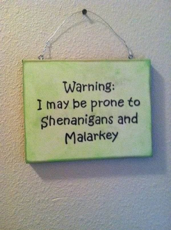 Funny sign | Irish gifts, St patrick's day decorations ...