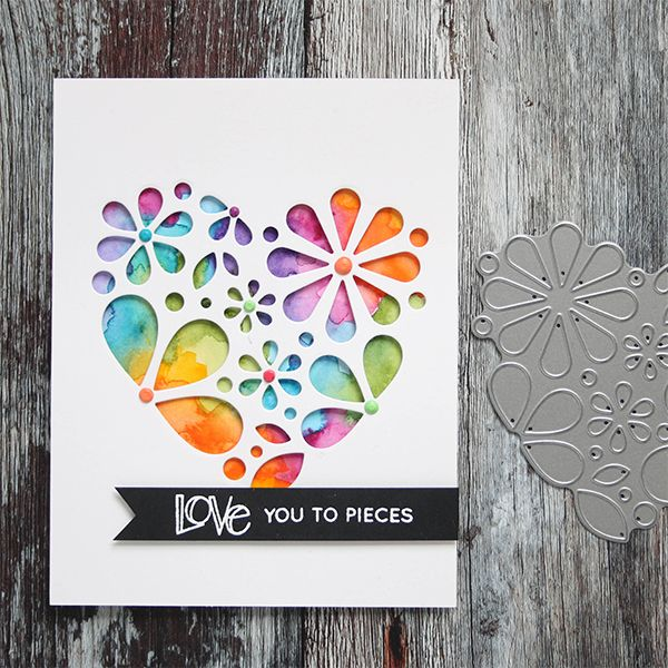 Simon Says Stamp Heart Of Flowers Wafer Die Sssd111660 Hey Love Preview Image Paper Cards Valentines Cards Cards Handmade