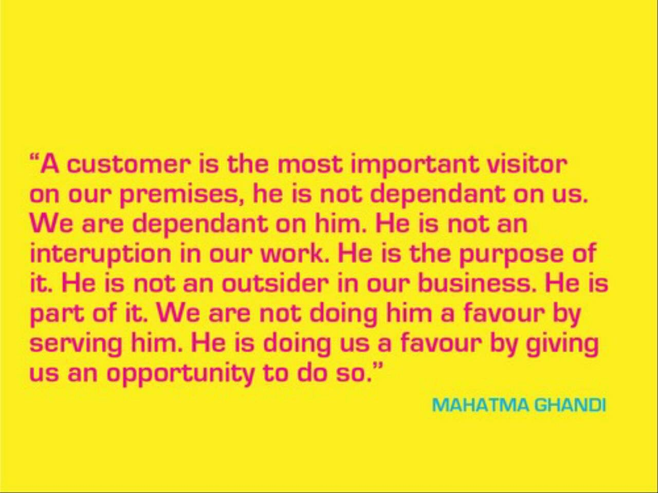 Great Customer Service Quotes Customer Service  The Most Important Visitor  Words To Work.