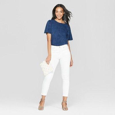 c85d36a19b5 Women's Short Sleeve Scoop Neck - Universal Thread Indigo (Blue) Xxl ...