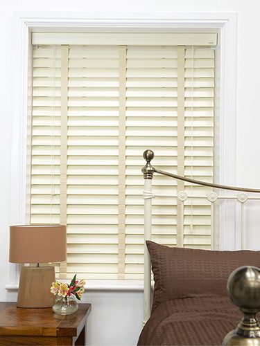 antique white \u0026 oyster wooden blind with tapes 64mm slat vintageantique white \u0026amp; oyster wooden blind with tapes available in 64mm slats, making