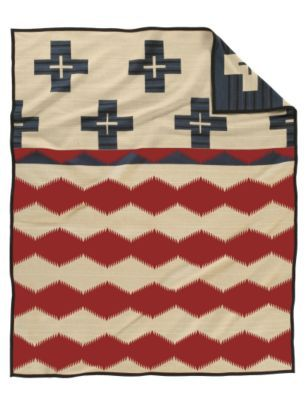 Pendleton Woolen Mills Brave Star Blanket Star Blanket Vintage Wool Blanket Pendelton Blankets