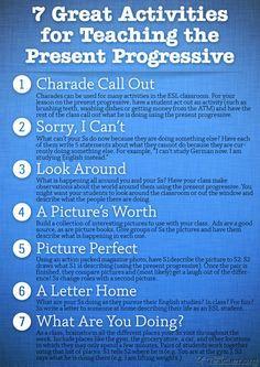 POSTER: 7 Great Activities to Teach the Present Progressive ...