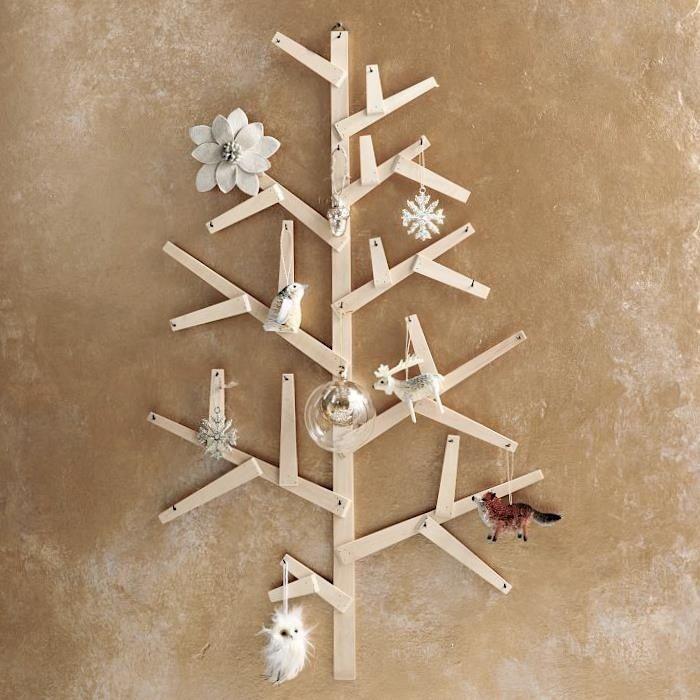 Bastelideen zu Weihnachten-alternativer Tannenbaum aus Holz - weihnachtsdeko ideen holz