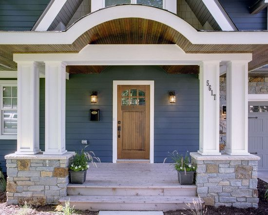 Ranch style home curb appeal design pictures remodel for Front door styles for ranch homes