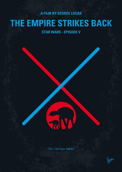 The Empire Strikes Back minimal movie poster /// by Chung Kong