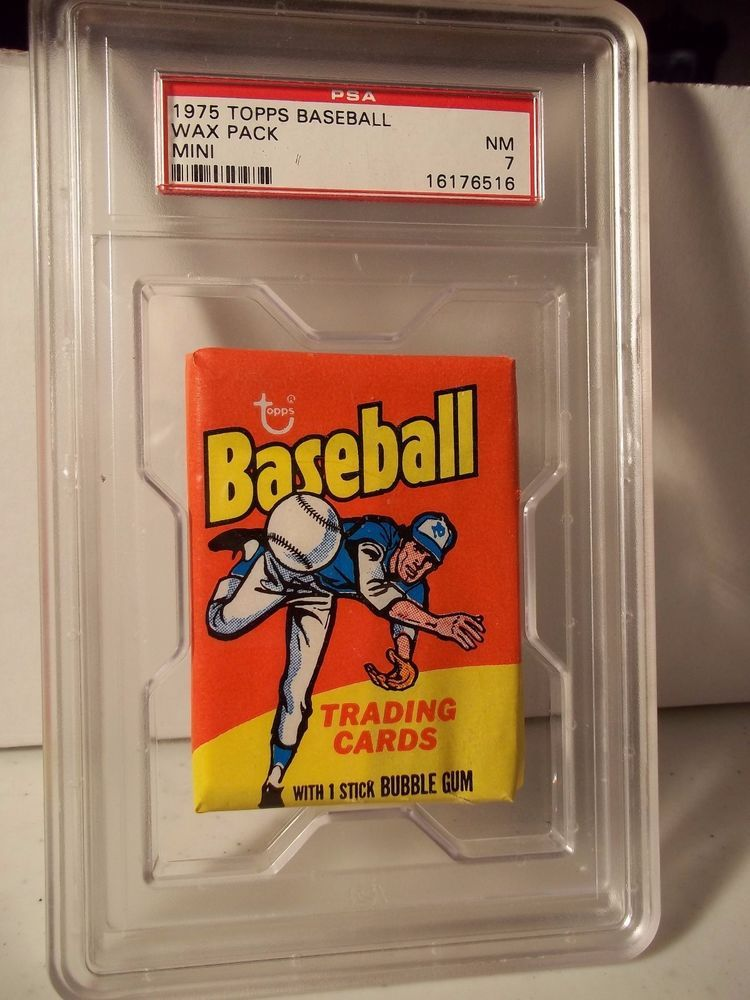 1975 Topps Baseball Mini Wax Pack PSA Graded NM 7 MLB