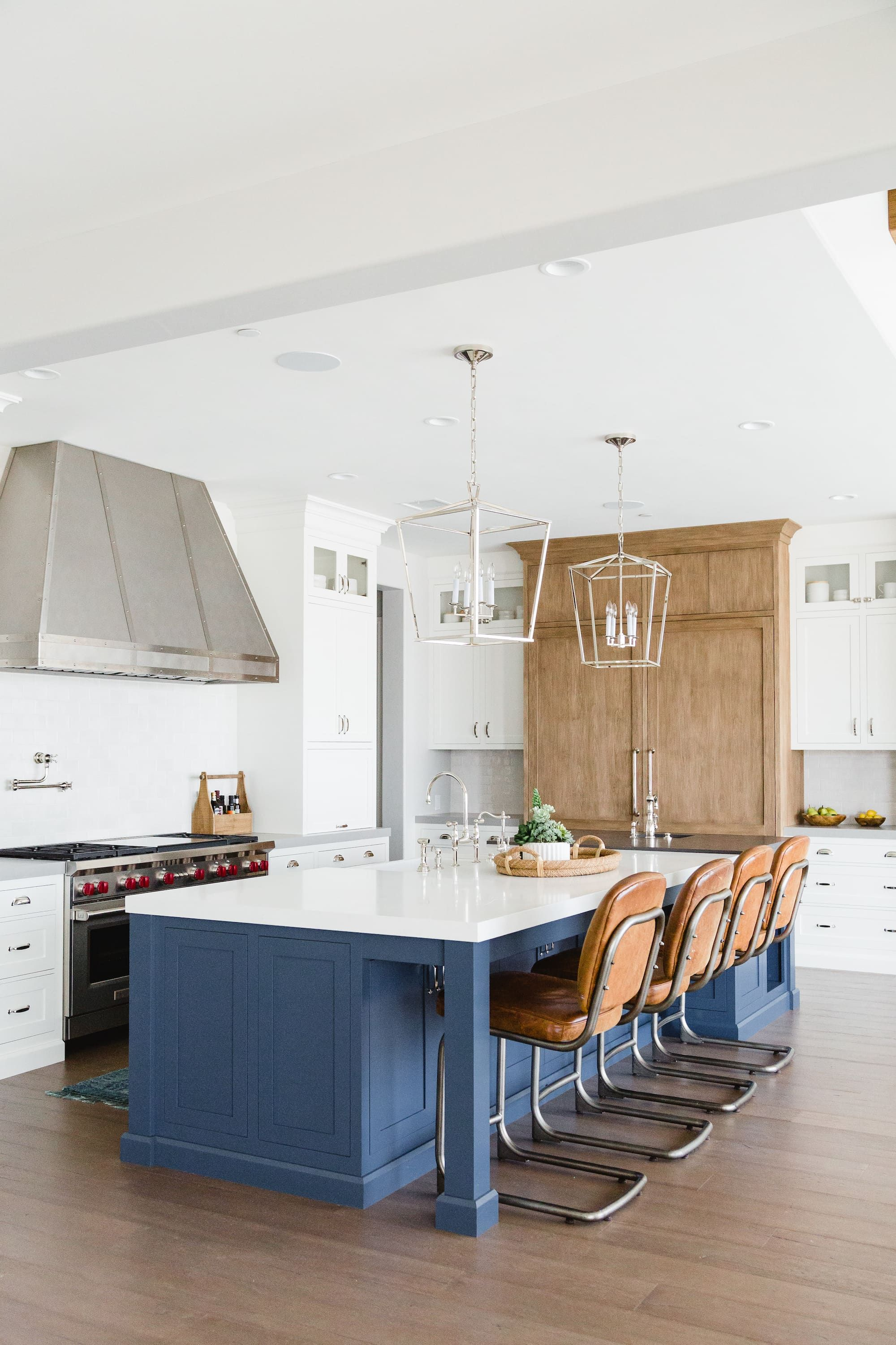 Move Over, Two-Color Tuxedo Kitchens: A Big New Trend Is Here   DIY on tuxedo kitchen young house love, tuxedo kitchen cabinwts, lowe's pantry white cabinets,