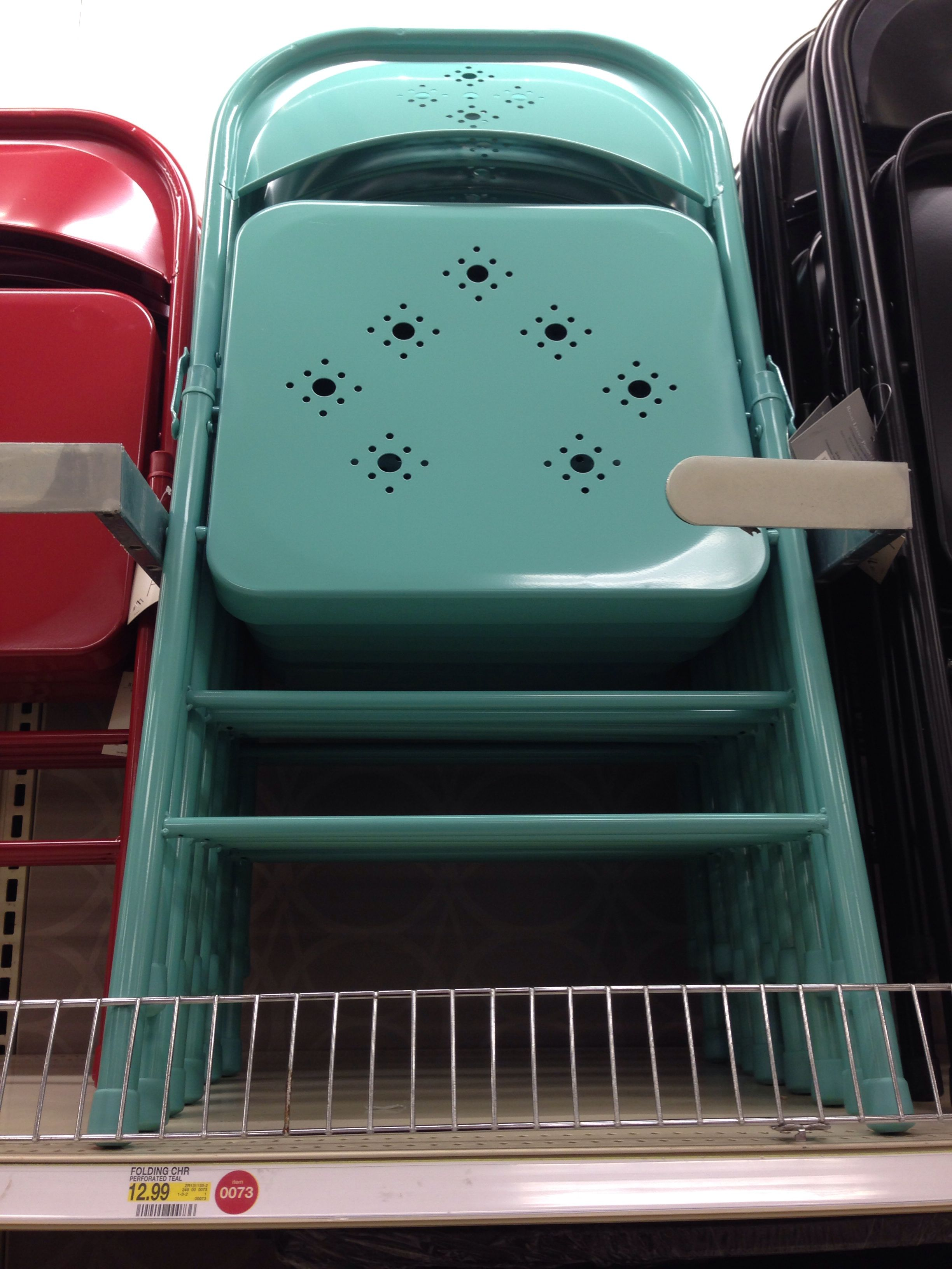 Cute Folding Chairs The Most Stinkin Cute Turquoise Folding Chairs At Target Only