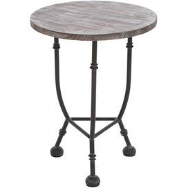 Weathered Accent Table With A Wood Top 68 Wood Accent Table