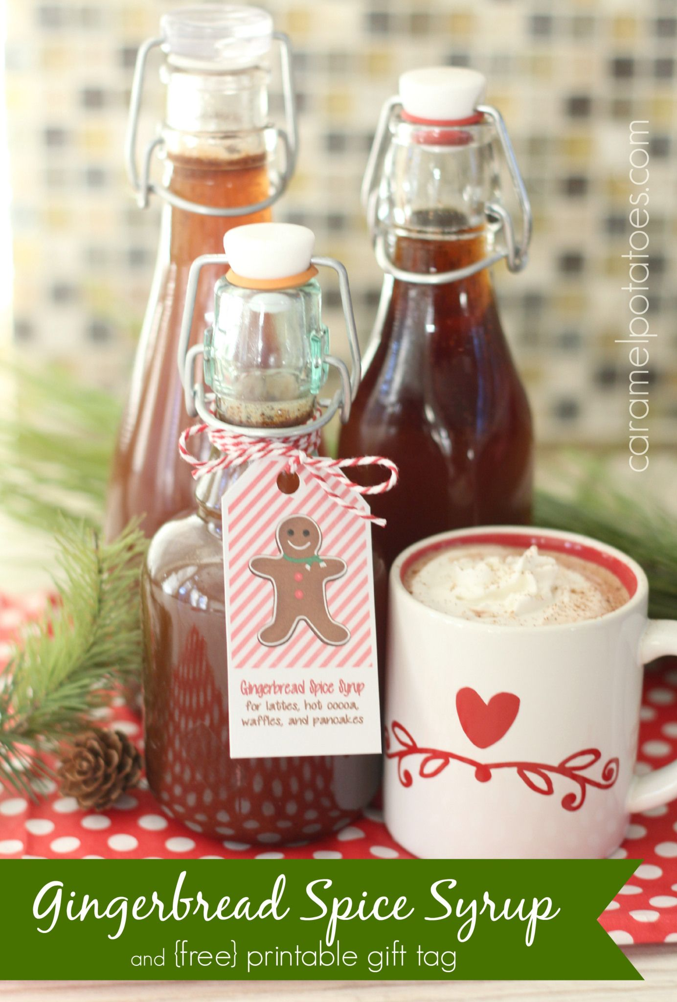 Gingerbread Spice Syrup {and Printable Tag} Homemade