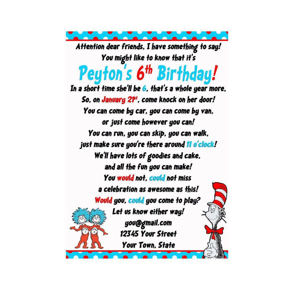 Invitation Wording. Invitation Wording Dr Seuss ...