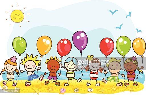 Summer Cartoons Balloon Cartoon Happy Summer Holidays Summer Cartoon