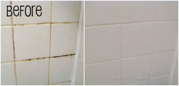 2 Ingredient Grout Cleaner For A Sparkling Bathroom