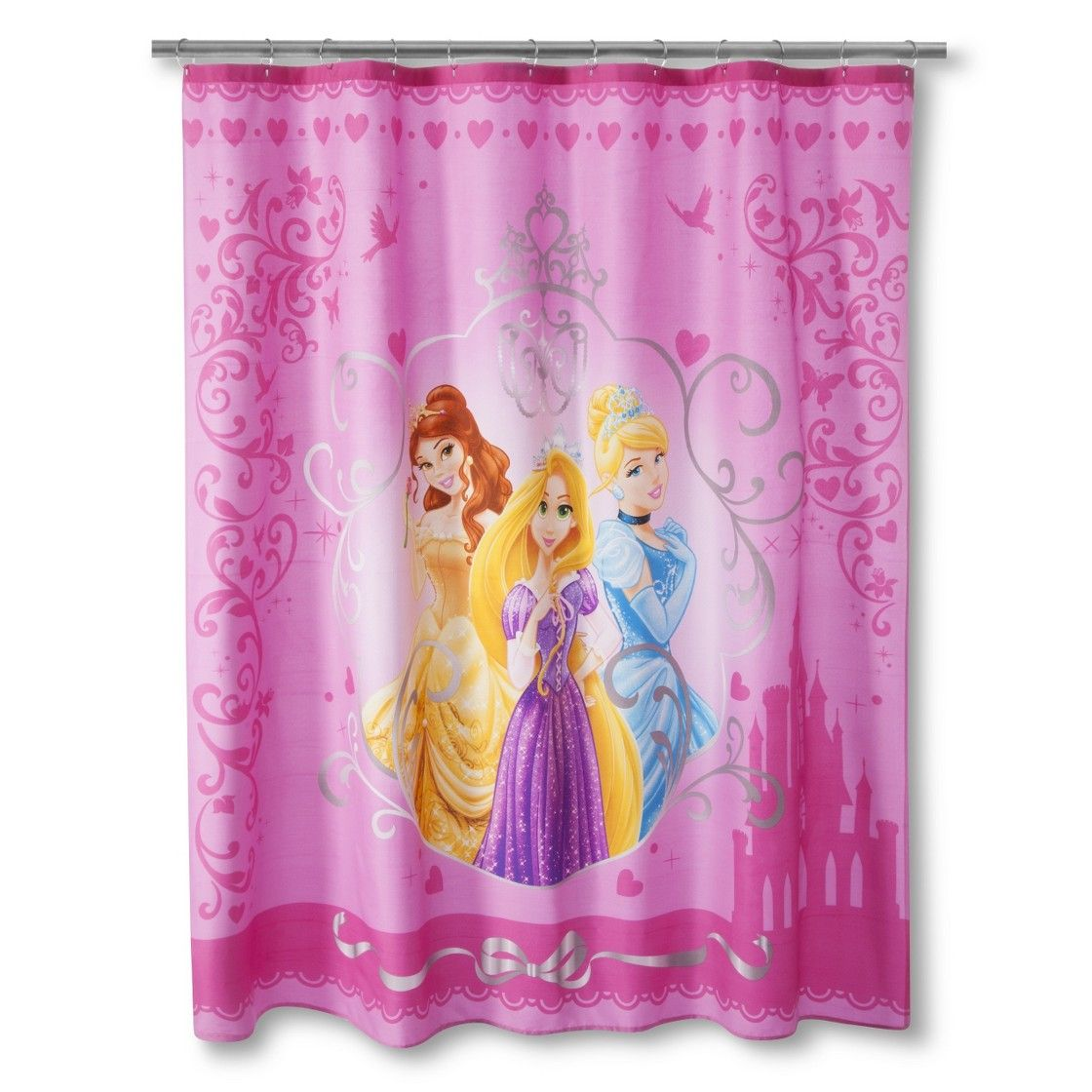 Disney Princess Shower Curtain Pink Princess Shower