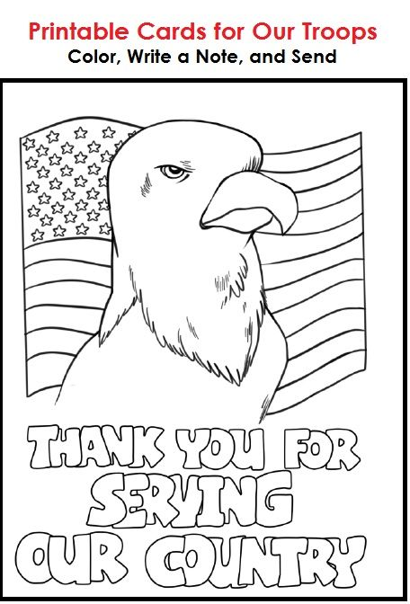 Cards For Our Troops Veterans Day Coloring Page Military Cards Letters To Veterans