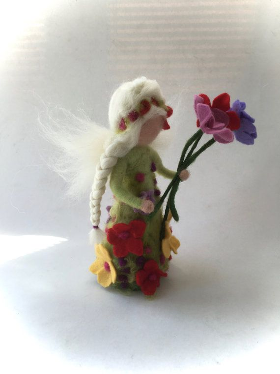 Summer Fairy.Waldorf. Hand-felted. Needle felted by FilzArts