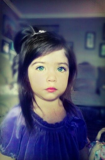 Beautiful Green Eyes Blue Eyes Flawless Dark Hair Toddler Girl