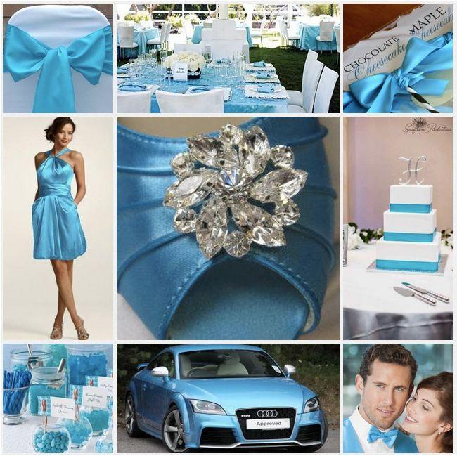 Malibu Blue And Silver Wedding Love It Blue Winter Wedding