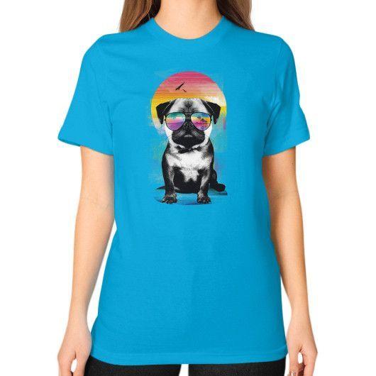 Summer Pug T-Shirt (on woman)