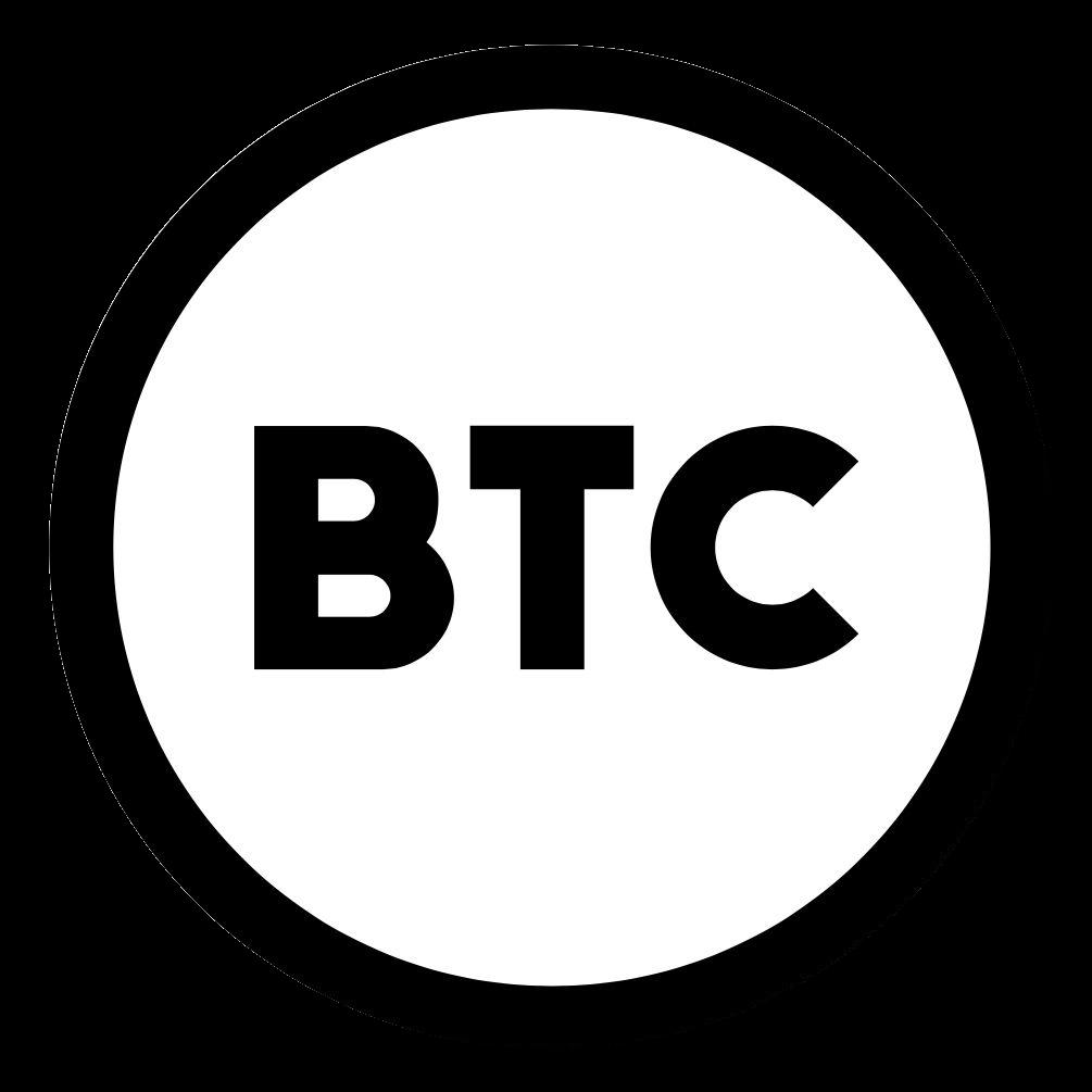 bitcoin black and white