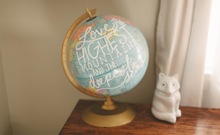 Globe in Ben's room