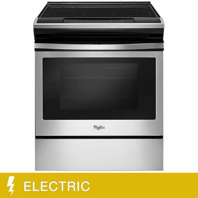 Whirlpool 4 8cuft Slide In Electric Range With Frozen Bake Technology Electric Range Whirlpool Electricity